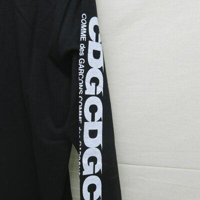 GOODDESIGNSHOPCOMMEdesGARCONS(グッドデザインショップコムデギャルソン)ロゴプリントL/STシャツブラックサイズ:XL【中古】【DM】【四日市併売品】【125-171223-10USH】