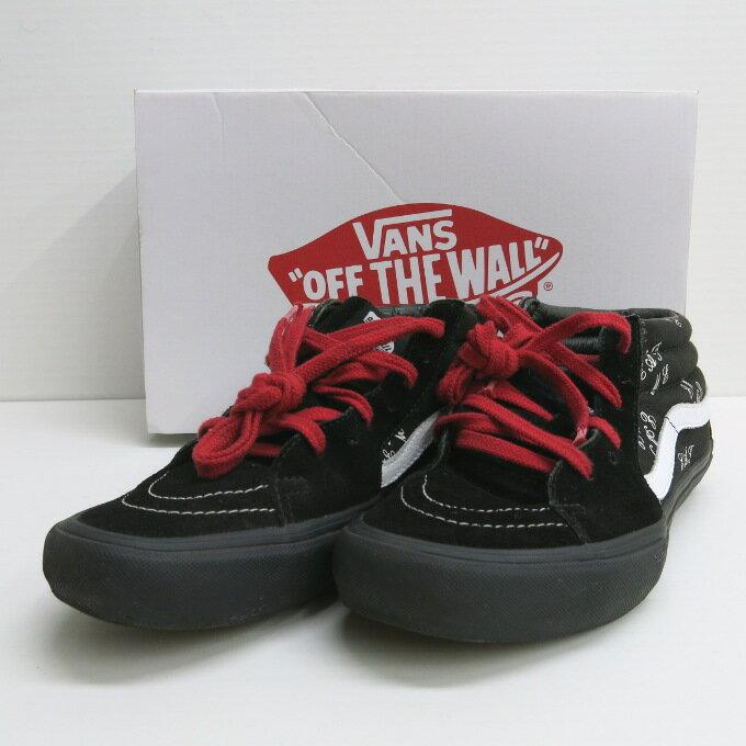 Supreme×Vans 15AW Eat Me SK-8 Mid PRO シュプリーム×ヴァンズ スケートミッド プロ ブラック サイズ:27.5cm【中古】【スニーカー】【四日市 併売品】【139-180112-08USH】
