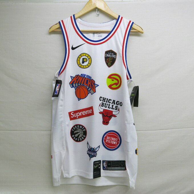 Supreme×NIKE 18SS NBA Teams Authentic Jersey シュプリーム×ナイキ チームズ オーセンティック ジャージー タンクトップ ホワイト サイズ:S【中古】【ストリート】【四日市 併売品】【126-180320-01USH】