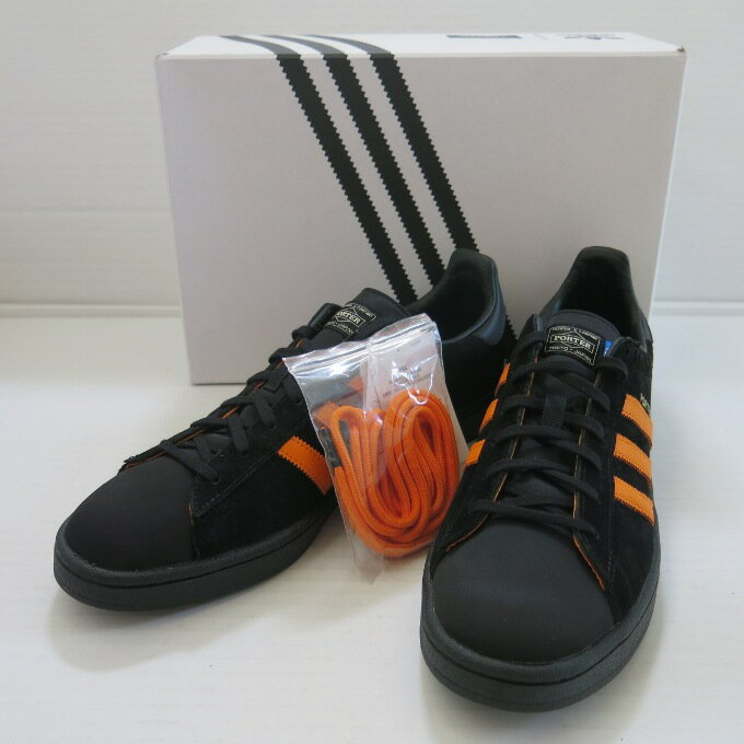 Porter x adidas Originals Campus ポーター×アディダスオリジナルズ キャンパス B28143 ブラック/オレンジ サイズ:29.5cm【中古】【スニーカー】【四日市 併売品】【139-180521-15USH】