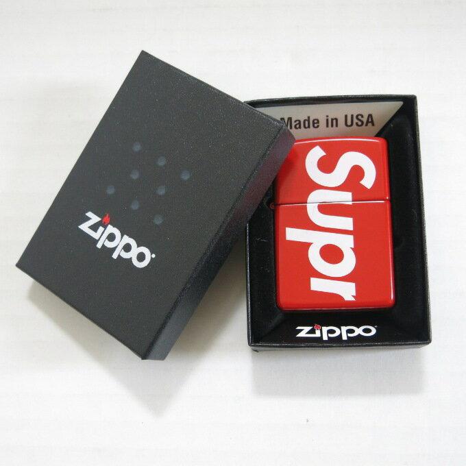 Supreme 18SS Logo Zippo シュプリーム ロゴジッポ レッド【中古】【ZIPPO】【四日市 併売品】【146-180619-09USH】