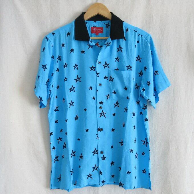 Supreme 18SS Devil Rayon Shirt シュプリーム デビル レーヨン シャツ ブルー サイズ:S【中古】【ストリート】【四日市 併売品】【126-180619-10USH】