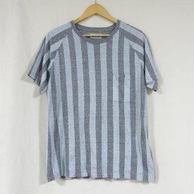 ONIKI(オニキ) ストライプ クルーネック Tシャツ グレー サイズ:S【中古】【インポート】【四日市 併売品】【122-180721-01USH】