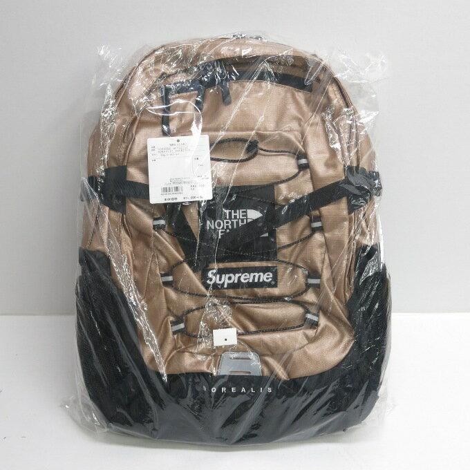 SUPREME×THE NORTH FACE 18SS Metallic Borealis Backpack シュプリーム×ノースフェイス メタリック ボレアリス バックパック ローズゴールド/ブラック【中古】【カバン】【四日市 併売品】【137-180929-09USH】