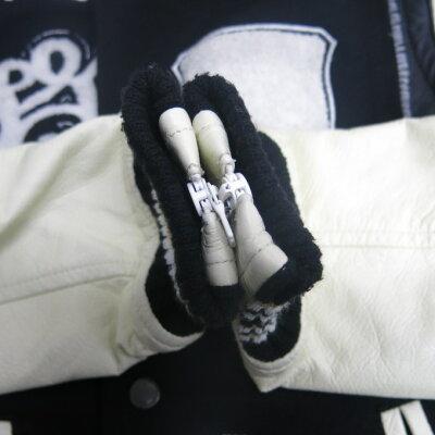 ROEN(ロエン)レザー切り替えスタジャンブラック/ホワイトサイズ:44【中古】【DM】【四日市併売品】【125-181123-12USH】