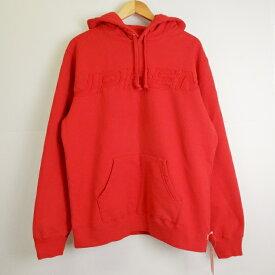 Supreme(シュプリーム) 19SS Set in Logo Hooded Sweat Shirt セットインロゴ スウェット パーカー レッド サイズ:L【中古】【ストリート】【四日市 併売品】【126-190422-02YH】