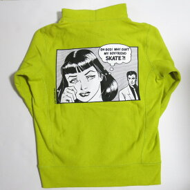 SUPREME ×Thrasher 17SS Boyfriend Hooded Sweatshirt シュプリーム×スラッシャー ボーイフレンド フーデッド スウェットシャツ イエロー系 サイズ:S【中古】【ストリート】【四日市 併売品】【126-190422-04USH】