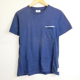 VISVIM(ビズヴィム) KUBA TEE SS 半袖Tシャツ VS0001895 ネイビー サイズ:1【中古】【126 ストリート】【四日市 併売品】【126-190626-07YH】