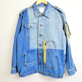 Gosha Rubchinskiy(ゴーシャラブチンスキー) Diesel Shirt With Round Pocket ディーゼル シャツ ラウンドポケット GR01B304-1 インディゴ サイズ:S【中古】【126 ストリート】【四日市 併売品】【126-190715-02YH】