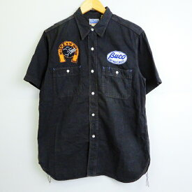 THE REAL McCOY'S BUCO(リアルマッコイズ ブコ) S/S ワークシャツ 半袖 ワークシャツ ブラック サイズ:16【中古】【128 アメカジ】【四日市 併売品】【128-190716-08YH】