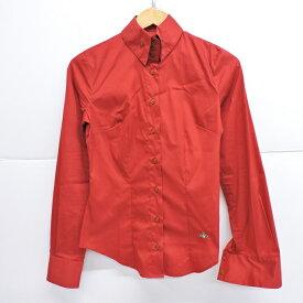 Vivienne Westwood RED LABEL(ヴィヴィアン ウエストウッド レッドレーベル) L/S SHIRT 長袖シャツ レッド サイズ:38【中古】【132 レディーストップス】【四日市 併売品】【132-190919-01YH】