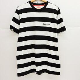 Supreme(シュプリーム) 15SS OLD ENGLISH STRIPED TOP ボーダー Tシャツ ボーダー サイズ:L【中古】【126 ストリート】【四日市 併売品】【126-190928-07YH】