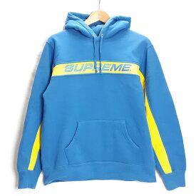 SUPREME 17SS Full Stripe Hooded Sweatshirt シュプリーム フルストライプ フーデッド スウェットシャツ ブルー/イエロー サイズ:M【中古】【126 ストリート】【四日市 併売品】【126-200119-21USH】