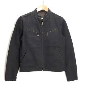 TROPHY CLOTHING BLACKIE DENIM RIDERS JACKET トロフィークロージング デニム ライダースジャケット ブラック/インディゴ サイズ:36【中古】【128 アメカジ】【四日市 併売品】【128-200122-09USH】