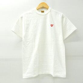 Girls Don't Cry×HUMAN MADE(ガールズドントクライ×ヒューマン メイド) XX19TE003 20SS ワンポイント Tシャツ ホワイト サイズ:S【中古】【126 ストリート】【四日市 併売品】【126-200717-02YH】