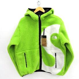 SUPREME×THE NORTH FACE 20AW S Logo Hooded Fleece Jacket シュプリーム×ノースフェイス Sロゴ フーデッド フリースジャケット NT62004I ライム サイズ:M【中古】【126 ストリート】【四日市 併売品】【126-201108-04USH】