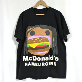 Travis Scott x CPFM 4 CJ Burger Mouth T-Shirt トラヴィス スコット×マクドナルド バーガーマウス Tシャツ ブラック サイズ:L【中古】【126 ストリート】【四日市 併売品】【126-210326-01USH】