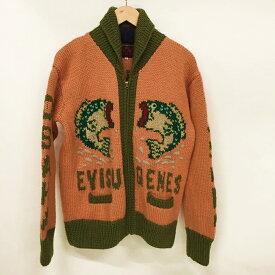 EVISU(エヴィス) カウチンニット サイズ:40 カラー:Orange×Green【中古】【128 アメカジ】【鈴鹿 併売品】【128-190515-05NS】