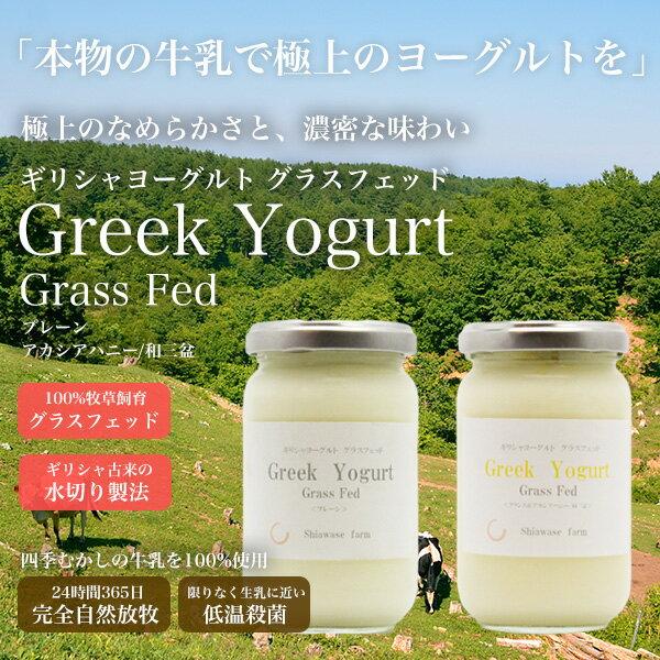 【牧場直送】ギリシャヨーグルト Grass Fed 2個セット(各250g)(グリークヨーグルト)ノンホモ 低温殺菌 100%牧草飼育 水切り製法