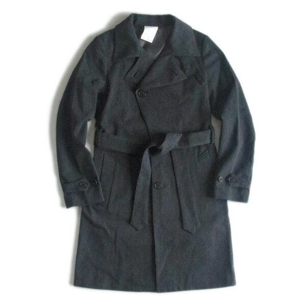 """【SALE対象品】merph_anima (メルフアニマ)anm1011""""trench coat """" オイルカットアーミーツイル トレンチコート (Charcoal Grey) チャコールグレー"""