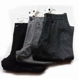 【ユニセックス-定番モデル】MASTER&CO (マスターアンドコー)MC946[LONG WIDE WOOL PANTS][FLANNEL LONG TROUSERS] ウールワイドパンツ (3色)