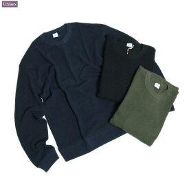 gicipi (ジチピ) 1905A MEN'S [COTTON WAFFLE CREW L/S] コットン ワッフル クルーネック (男性向けサイズ) / ユニセックス /40代ファッションベーシック [クリックポスト・ネコポス対応]