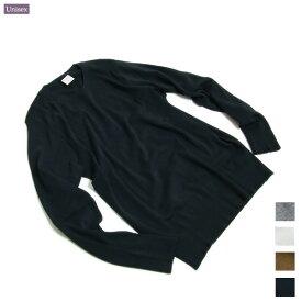 [定番カットソー/ニット] gicipi (ジチピ) 1901A MEN'S [COTTON CREW NECK L/S] コットン ニット クルーネック (男性向けサイズ) / ユニセックス /40代ファッションベーシック [クリックポスト・ネコポス対応]