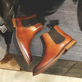 【送料無料】チェルシーブーツ ビジネスシューズ サイドゴアブーツ 本革 革靴 紳士靴 メンズ ドレスシューズ イタリア製天然牛革 ブーツ ビジネス ドレス 紳士 シューズ 靴 ブラック ブラウン 皮靴 結婚式 履きやすい 冠婚葬祭 スーツ 卒業式