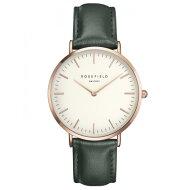 ローズフィールド腕時計レディースレディースウォッチBoweryバワリーフェイスサイズ38mmホワイト×グリーンROSEFIELDBWGER-B16