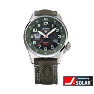 ケンテックスソーラースタンダードJSDFウォッチ自衛隊陸・海・空モデル日本製メンズ腕時計メンズウォッチS715M-01