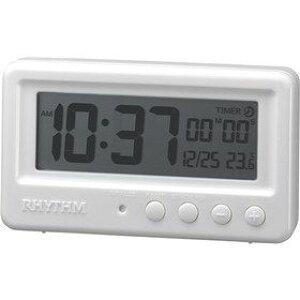 置き時計 置時計 シチズン リズム時計 RHYTHM CITIZEN アクアプルーフ 防水 タイマー付き ホワイト 8RDA72SR03 CITIZEN