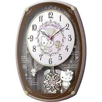 公民 (公民) 节奏时钟你好凯蒂你好凯蒂 M540 机械时钟收音机挂时钟 30 首歌曲与金属粉红色 4 MN540MB13 05P03Dec16