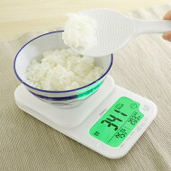 マイスケール2Kgホワイトダイエットキッチンスケールごはんのカロリー・炭水化物量がはかれるKS-280WTDRETECドリテック