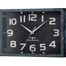 置き時計 掛け時計 置掛時計 掛時計 置時計 テクノススクエア 電波 アナログ ネイビー TECHNOS テクノス W-683 SFB
