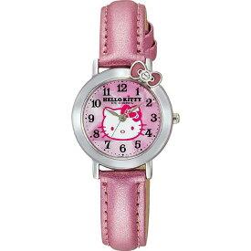 ハローキティ HELLO KITTY 腕時計 ガールズ レディース シチズン Q&Q ガールズウォッチ アナログ表示 ピンク CITIZEN VW23-130