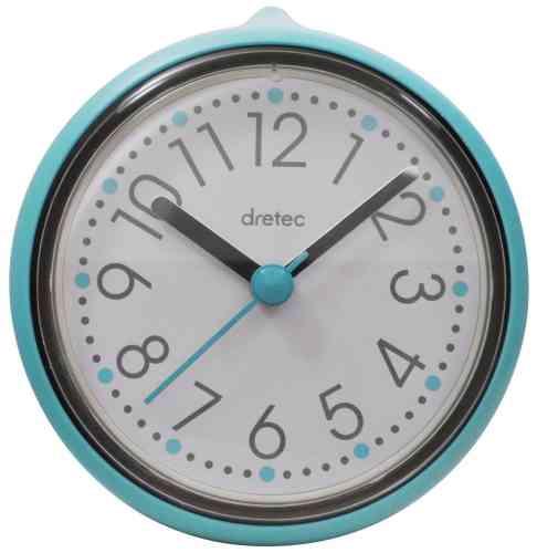 おふろクロック バスクロック スパタイム かわいいフォルムの防滴時計 C-110BL DRETEC ドリテック