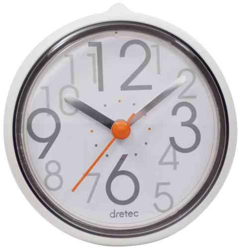 おふろクロック バスクロック スパタイム かわいいフォルムの防滴時計 C-110WT2 DRETEC ドリテック