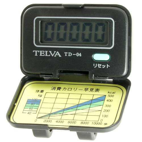 テルバ 歩数計 Doppo デジタル クリップ式 TD-04 ブラック