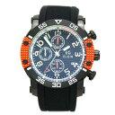 エルジン 腕時計 EGシリーズ エルジン創立150周年記念モデル クロノグラフ シリコンラバーベルト オレンジ EG-001-O