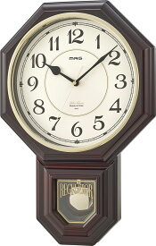 振り子時計 掛け時計 壁掛け時計 掛時計 ボンボン時打ち 16曲メロディ 西洋館 MAG マグ ブラウン W-670 BR MAG マグ ノア精密