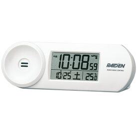 目覚まし時計 置き時計 大音量 電波時計 SEIKO セイコー クロック 電子音 ライデンのエントリーモデル ホワイト NR532W