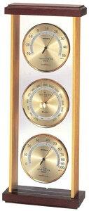 エンペックス empex 温度湿度計 置き 気圧計 気象計 温度計 湿度計 温度湿度気圧計 スーパーEX EX-744 ゴールド empex