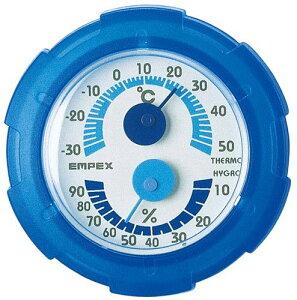 エンペックス empex 温度湿度計 温度計 湿度計 シュクレミニTM-2386 クリアブルー empex