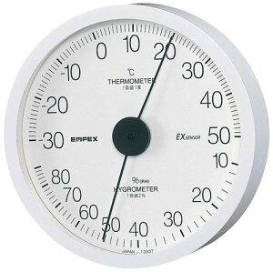 エンペックス empex 温度湿度計 温度計 湿度計 壁掛け 壁掛用 エクストラ TM-6201ホワイト empex
