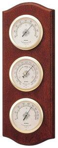 エンペックス empex 温度湿度計 気圧計 温度計 湿度計 壁掛け 壁掛用 気象計 ウェザーガイド BM-716 empex
