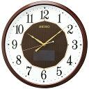 掛け時計 壁掛け時計 ハイブリッドソーラー 電波時計 セイコー クロック SEIKO ハイブリッドソーラー ブラウン SF241B