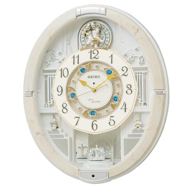 セイコー クロック 掛け時計 壁掛け時計 からくり時計 電波時計 SEIKO アミューズ アナログ RE576A