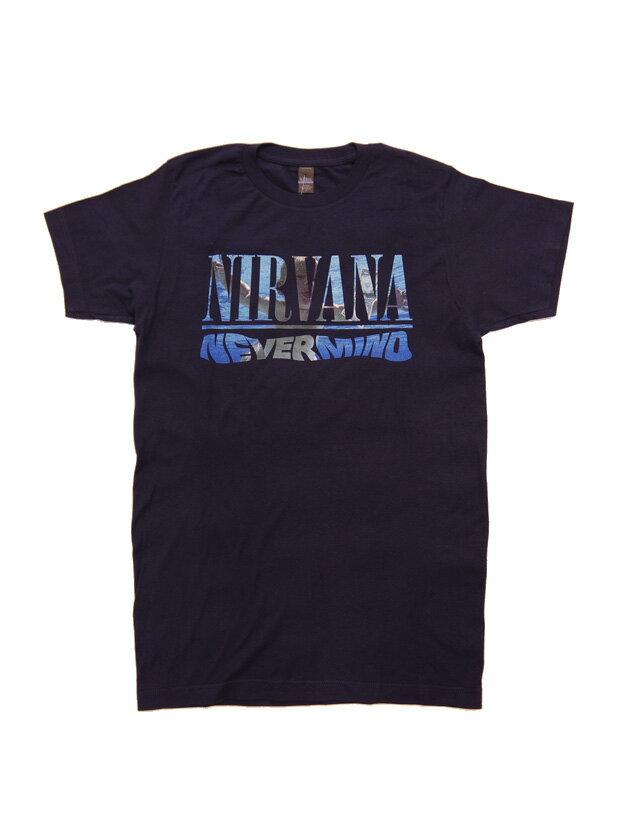 バンドTシャツ NIRVANA / NEVERMIND ALBUM PLAYLIST ニルヴァーナ オフィシャル バンドTシャツ ロックTシャツ カート・コバーン FOO FIGHTERS
