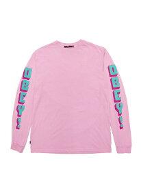 LAを代表するストリートブランド【正規品】 OBEY / NEW WORLD 2 LONGSLEEVE T-SHIRTS (DUSTY LAVENDER) オベイ Tシャツ 長袖 ロンT シェパード・フェアリー