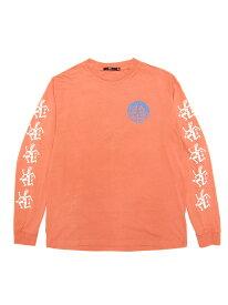 LAを代表するストリートブランド【正規品】 OBEY / THE RHYTHM LONGSLEEVE T-SHIRTS (DUSTY CORAL) オベイ Tシャツ 長袖 ロンT シェパード・フェアリー